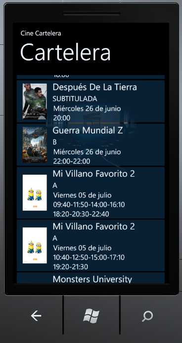 Cartelera Cinemex