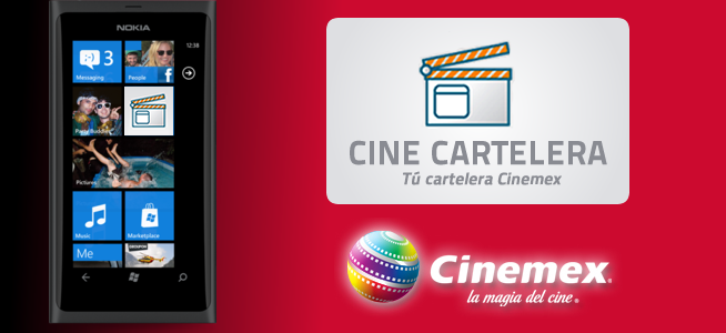 Cartelera Cinemex en tu Celular Windows Phone