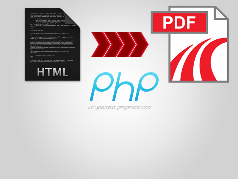 php convert html to pdf