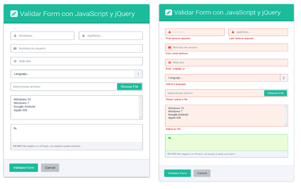 How to validate a form with Javascript and jQuery?