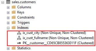sql server eliminar indices con drop index